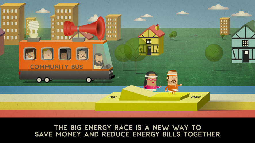Scene from the Big Energy Race animation