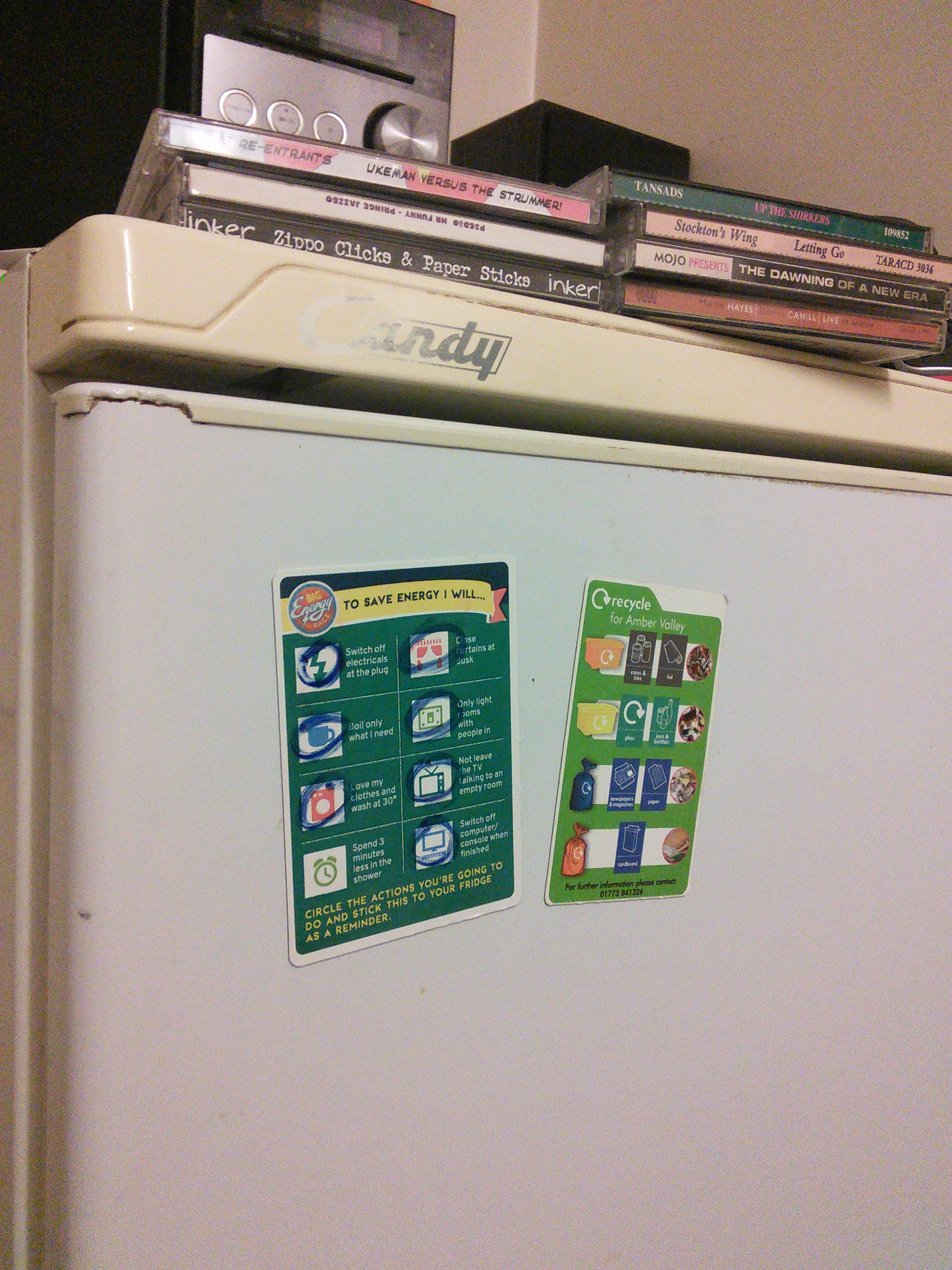 Fridge Magnet in situ